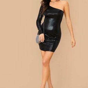 Black Snake Skin dress